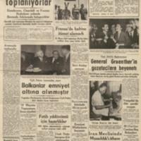 Yeni NATO Başkomutanı General Gruenther'in Gazetecilere Beyanatı