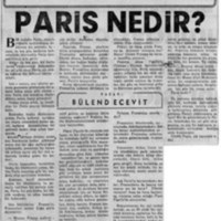 Bir Seyahattan Notlar: Paris Nedir?