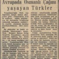 Yunanistan Notları VI: Avrupa'da Osmanlı Çağını yaşayan Türkler