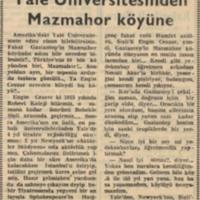 Yedeksubay Öğretmenler I: Yale Üniversitesi'nden Mazmahor Köyüne