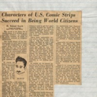 Characters of US Comic Strips Succeed in Being World Citizens
