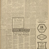 Menderes'in İtirafları ve Bir Tahlil Denemesi