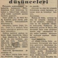 Muzaffer Ozdağ'ın Düşünceleri